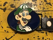 Official Luigi Nintendo Super Mario Bros Enamel Belt Buckle (New) NWT 2011