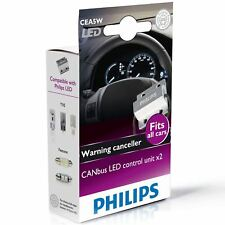 PHILIPS CANbus control unit 5W warning canceller LED Lamp 12956X2 Twin Pack