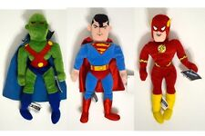 SUPERMAN MARTIAN MANHUNTER & FLASH Bean Bag Figure WB Studio Store Exc Tags 1998