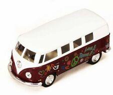 1962 Volkswagen Classic Bus with Decals - Kinsmart 5060DF - 1/32 scale Diecast M