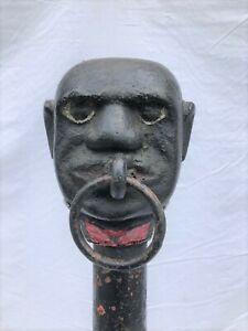 Antique Black Americana Hitching Post