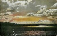 Seattle Washington~Sunset On Puget Sound~1910 Postcard