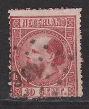 NVPH Netherlands Nederland 8 TOP CANCEL AMSTERD.-EMMERIK 136 Willem III 1867