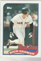 FREE SHIPPING-MINT-1989 Topps #652 Rich Gedman Red Sox