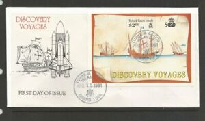 TURKS & CAICOS ISLANDS DISCOVERY OF AMERICA FDC 15th APRIL 1991 AS10