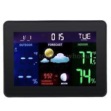 Digital LCD Wireless Weather Station Calendar Thermometer Hygrometer Meter T2K0