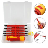 7 in 1 Electrician Insulated Hand Screwdriver Bit Double-Head Repair Tool Kits