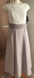 Taupe Veni Infantino Mother Of The Bride/Groom Outfit Size:16