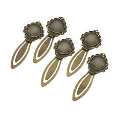 5set Portrait Crown Bookmark Making 20mm Clear Domed Glass Cabochon Cover Bronze