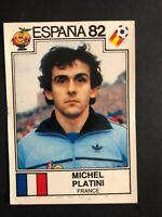 MICHEL PLATINI' STICKER WORLD CUP ESPANA 82I PANINI #286 NEW NEAR MINT