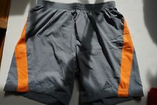 Brand new men Adidas Climacool Athletic Gray Running Shorts size S Retail $45