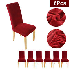 6X Super Fit Stretch Short Dining Chair Cover Slipcover Seat Protector Washable