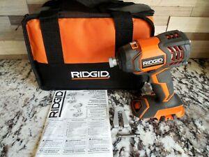 "NEW RIDGID 18-Volt 1/4"" Cordless Impact Driver R86034 W/Tool Bag Free Shipping!!"