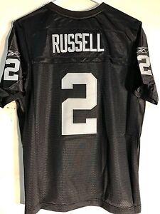Reebok Women's Premier NFL Jersey Oakland Raiders Jamarcus Russell Black sz L