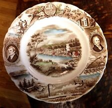 Johnson Brothers Oregon Lewis & Clark Historical Souvenir Collector Plate loc-6P