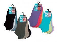 5 Paar Sneaker Freizeit Socken, Gr. 35~40, handgekettelt, Damen u.Herren Schwarz