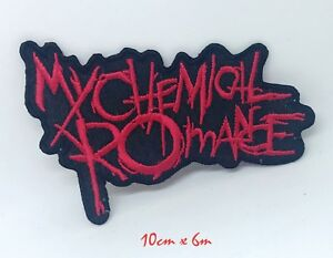 My Chemical Romance Gerard Way Music Red Embroidered Iron on Sew on Patch #1255