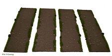 Wargames terrain/décors routes rurales Dirt 15 Mm Court routes FOW, Bolt Action