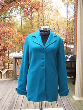 new in pkg $119 J.R.T. WOOL  blend turquoise  car coat jacket size 6
