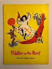 Fiddler on the Roof: World's Most Acclaimed Musical Program Souvenir Vintage