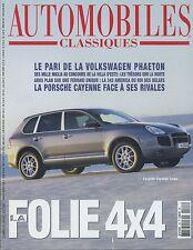 AUTOMOBILES CLASSIQUES n°123 FERRARI 342 AMERICA VW PHAETON PORSCHE CAYENNETURBO