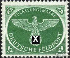 Dt. Feldpost 2.WK 4 (kompl.Ausg.) Gefälligkeitsentwertung gestempelt 1944 Päckch