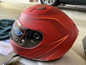 HJC FG-17 Full Face Motorcycle Helmet SNELL DOT 2XL RED - NEW NEVER WORN