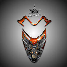 Polaris IQ RMK Shift Dragon Hood Graphics Decal Sticker  05-12 Guardian Orange