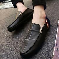 Fashion Mens Flat Slip On Loafers Round Toe Driving Gommino Casual Shoes British