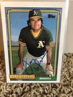 TONY LARUSSA 1992 TOPPS Autographed Signed AUTO Baseball Card ATHLETICS 429