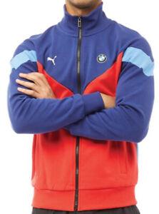 Puma x BMW Motorsport Mens Track Jacket Blue/Red Sizes new