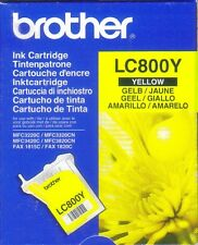 BROTHER LC800Y Yellow Single Ink Cartridge NEW,MFC3220C,MFC3320CN,FAX 1815C,Etc