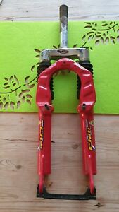 """CHILI WORKS 321 20"""" Suspension Forks. 1"""" Threaded. Kids Bike Bicycle Red. NOS"""