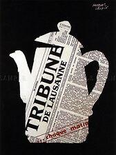 Pubblicità Giornale media tribune Svizzera Tea Pot poster art print bb2156a