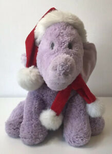 """Disney Store Stamped Christmas Heffalump Soft Plush Toy 13"""" From Winnie The Pooh"""