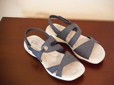 Life Stride Size 10 W Wide Character Navy Slingbacks Sandals New Womens Shoes