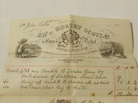 1883 Robert Scott & Co GUN & PISTOL Makers Middlesborough Pictorial Bill Head