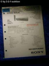 Sony Service Manual SLV SE100 SE200 SE250 SE300 SE400 SE450 SX100 SX250 (#5171)