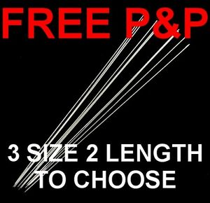 GREAT LONG NEEDLES EXTRA THIN FOR BEADING SOUTACHE SEWING CRAFT CHOOSE SIZE