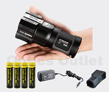 NITECORE TM26 4000 Lumens Rechargable LED Flashlight +FREE Batteries
