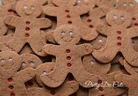Felt Gingerbread Men. Pack of 3 Christmas Craft Embellishments