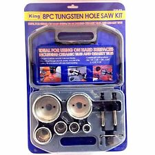 King, 8PC TUNGSTEN HOLE SAW KIT, 0928-023, 657807092808