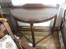 Half Moon Half Round Console Side Table, Original Antique from  Art Deco Period