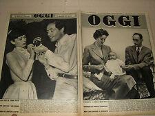 OGGI=1955/23=AUDREY HEPBURN=GEORGES BERNANOS=VARALLO POMBIA=CERNOBBIO W. CHIARI