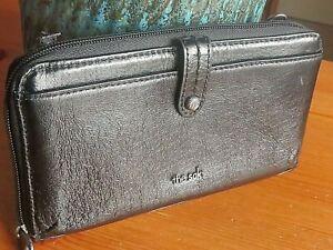 The Sak  Leather Phone Wallet, Black