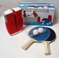 Tischtennis Komplett Set mit Flexi & Easy Netz + 2 Tischtennisschläger + 2 Bälle
