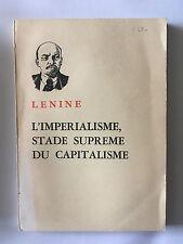 L'IMPERIALISME STADE SUPREME DU CAPITALISME 1969 LENINE