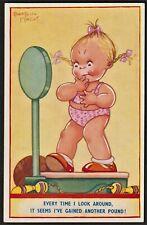 BEATRICE MALLET children's postcard weighing machine