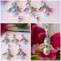10 Schutzengel Regenbogen hell Silber Hochzeit Gastgeschenk Taufe Tisch Deko 06
