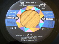 "CHER - DON'T HIDE YOUR LOVE  7"" VINYL"